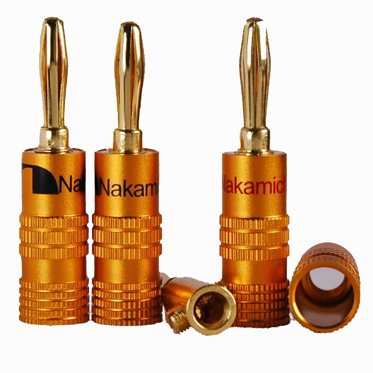 Nakamichi Speaker banana plug 24K Gold Plated N0534BG